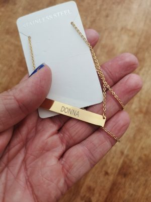 New Bar Name Necklace photo review