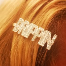 Rhinestones Letters Hair Clips photo review